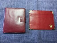Vintage 80's Rolex Red Wallet;Card Holder . pair for sale