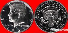 1969 S 40% Silver Kennedy Half Dollar Gem Proof- No Reserve