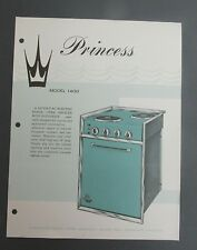 Vintage PRINCESS Model 1400 FLYER AD BROCHURE oven stove marine galley apartment