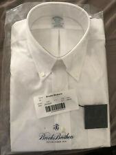 Brooks Brothers Mens Regent Fit Luxury Non Iron Cotton Dress Shirt White 16.5-35
