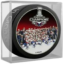 Washington Capitals 2018 NHL Stanley Cup Celebration Photo Hockey Puck in Cube