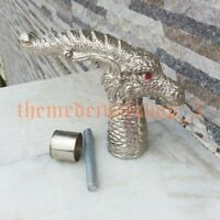 Nickle finish style handle Dragon Head HANDLE FOR WALKING STICK/ CANE HANDMADE
