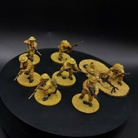 Painted 28mm bolt action British 8th army infantry ×8 squad #1 ww2