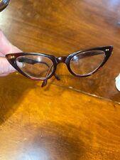 Vintage American Optical Brown Cateye Eyeglass Frame 5 1/4