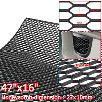 "Universal Racing Car Honeycomb Mesh Hexagon ABS Grille Fog Custom 47"" x 16"" Auto"