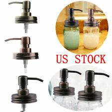 Stainless Steel Anti-Rust Soap Lotion Bath Tube Pump Dispenser Mason Jars Bottle