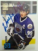 Autograph Wayne Gretzky 1994 Topps Stadium Club Members #5 L.A.Kings