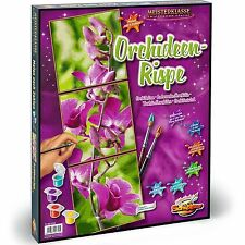 Malen nach Zahlen~Orchideen-Rispe~609470739 Schipper 120x40 Triptychon Orchidee