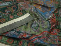 Vintage Dupatta Pure Woolen Indian Scarf Shawl Long Hijab Stole Wrap Fabric