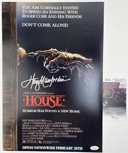 HARRY MANFREDINI signed 12x18 Poster Composer HOUSE 1985 Horror Movie JSA
