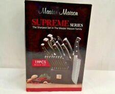 New ListingSupreme Series 19 Piece Cutlery Knife Set, Black