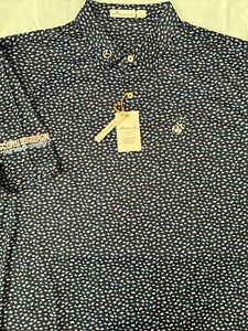 Scotty Cameron 2021 Gallery Feather Weight SCHOOL of  FISH POLO SHIRT Large NAVY
