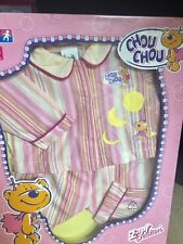Zaph Chou Chou doll clothing 2 pc Pj pajama set pink stripe Nib