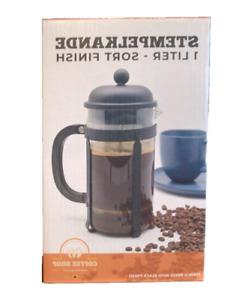 Kaffeebereiter 1L Glas Kaffeekanne French Press Kaffee Kocher Stempelkanne