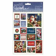 Papermania A Christmas Wish A5 Postage Stamps Card Making Topper Embellishments