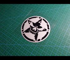Army Military Star skull JEEP Off-road Car Reflective sticker_107 mm x 107 mm