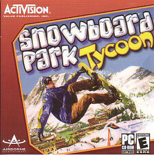 SNOWBOARD PARK TYCOON Snow Boarding Sports for Windows PC Game CDrom NEW