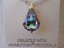 Swarovski Elements Crystal in Vitrail Light Color Pendant Necklace Light Tones