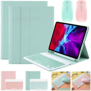 """Bluetooth Keyboard Leather Case Cover&Mouse For iPad 7th 8th Gen 10.2"""" 2019 2020"""