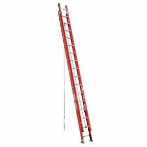 Werner D6232-2 32 Ft Fiberglass Extension Ladder, 300 Lb Load Capacity