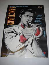 POSTER / LOCANDINA  SANCTUARY GRAPHIC NOVEL Viz Comics PROMO n 1 1994