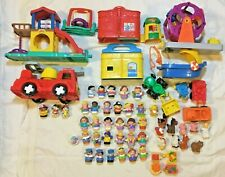 Lot 60 Vintage Fisher Price Little People Figures Vehicles Farm Zoo Animals Sets