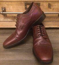 Johnston Murphy Mens Size 10 M Shoes J Murphy Novick Burgundy CAP TOE OXFORDS