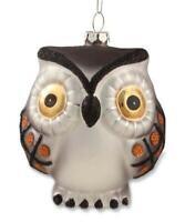 "Bethany Lowe Hoot Owl Ornament Mercury glass Xmas Fall DA4471 NEW Figure 4"""