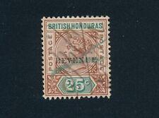 "BRITISH HONDURAS **25c REVENUE ""DUTY STAMP"" (1899)** USED; XF"