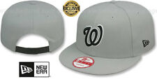 Nationals 'TEAM-BASIC SNAPBACK' Grey-Black Hats by New Era