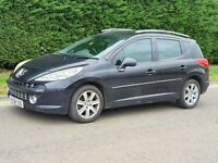 2008 (58) PEUGEOT 207 1.6 SW 5 DOOR BLACK ESTATE SALVAGE DAMAGED REPAIRABLE