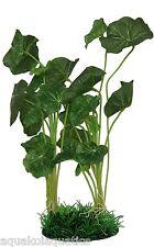 "PT001 LILY PLANT AQUARIUM FISH TANK VIVARIUM ORNAMENT DECORATION GRASS 32CM 12"""
