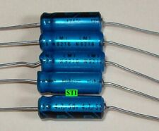 High Temp (125C) 4.7uf 4.7mfd 50V  Capacitors AXIAL (QTY 5)  ON SALE!!