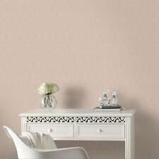 Boutique Sofia Textured Plain Metallic Peach Wallpaper (Was £24)