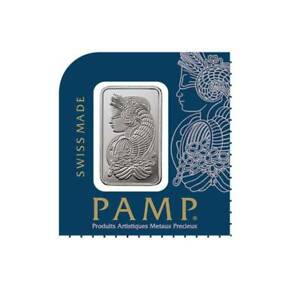 1 Gram (1G) Pamp Suisse Lady Fortuna Platinum Bar ~In Sealed Assay ~ .9995 Fine.