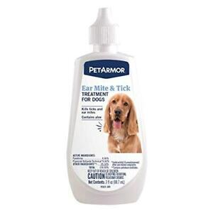 PetArmor Ear Mite and Tick Treatment for Dogs, 3 oz