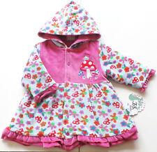Nicki Jacke Gr.56 F. S. baby NEU rosa pink blau Fliegenpilz velour wattiert baby