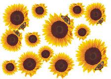Blumen Aufkleber Sonnenblumen Auto Aufkleber: Flower Set 09-Mini-36 Stück