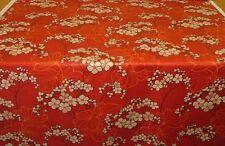 """NEW PER METRE HYDRANGEA FLORAL RED 100% COTTON FABRIC BY VILLA NOVA 56"""" WIDE"""