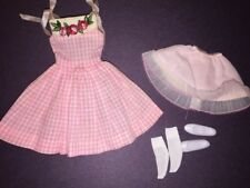 Vintage Mattel Barbie Skipper 1913 Me 'N My Doll Dress,Slip,Tricot Socks,Shoes!