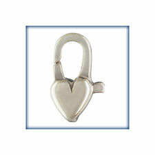 10PCS Sterling Silver Clasp, 12mm Silver Heart Lobster, .925 Heart Lobsters