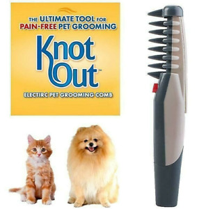 Electric Dog Cat Pet Grooming Comb Hair Tangle Remover Trimmer Fashion Pretty