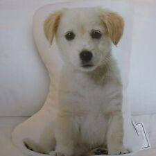 White Labrador Retriever Puppy Dog Shaped Photo Decorative Accent Throw Pillow