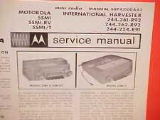 1965 IH INTERNATIONAL HARVESTER TRUCK R V CO SCOUT MOTOROLA RADIO SERVICE MANUAL