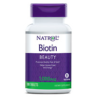 Natrol Biotin BEAUTY 1,000mg Promotes Healthy Hair & Nails 100 Tablets