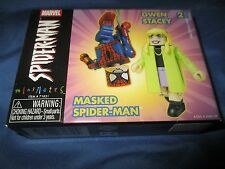 MARVEL UNIVERSE MINIMATES 2-Pack  Figure Set ~Masked Spiderman & Gwen Stacy