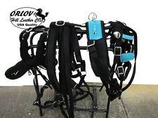 MINI MINIATURE SHOW BLUE TURQUOISE DRAWN DRIVING NYLON PARADE HORSE CART HARNESS