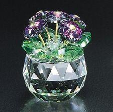 New Crystal World  African Violet Figurine Miniature