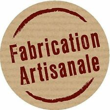 lot 100 etiquettes stickers fabrication artisanale rond marron ecru brun neuf