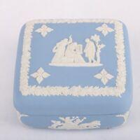 Wedgwood Jasperware Blue Square Lidded Trinket Dish Box